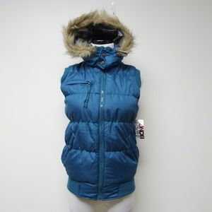 Bongo hooded quilted puffer vest